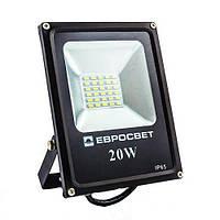 Светодиодный прожектор ES-20-01 6400K 20W 1100Lm SMD 39080 Евросвет