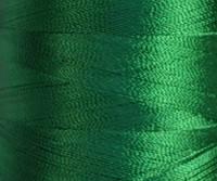 Нитка шелк для машинной вышивки 120D/2(3000ярд)Зеленый т.