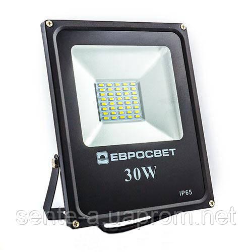 Светодиодный прожектор ES-30-01 6400K 30W 1650Lm SMD 38970 Евросвет