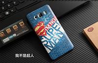 Эксклюзивный силиконовый чехол для Samsung J710 Galaxy J7 2016 с рисунком - Супер мен надпись