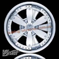 Автомобильные колпаки-спиннеры на колеса WINJET R13 ХРОМИРОВАННЫЕ I905