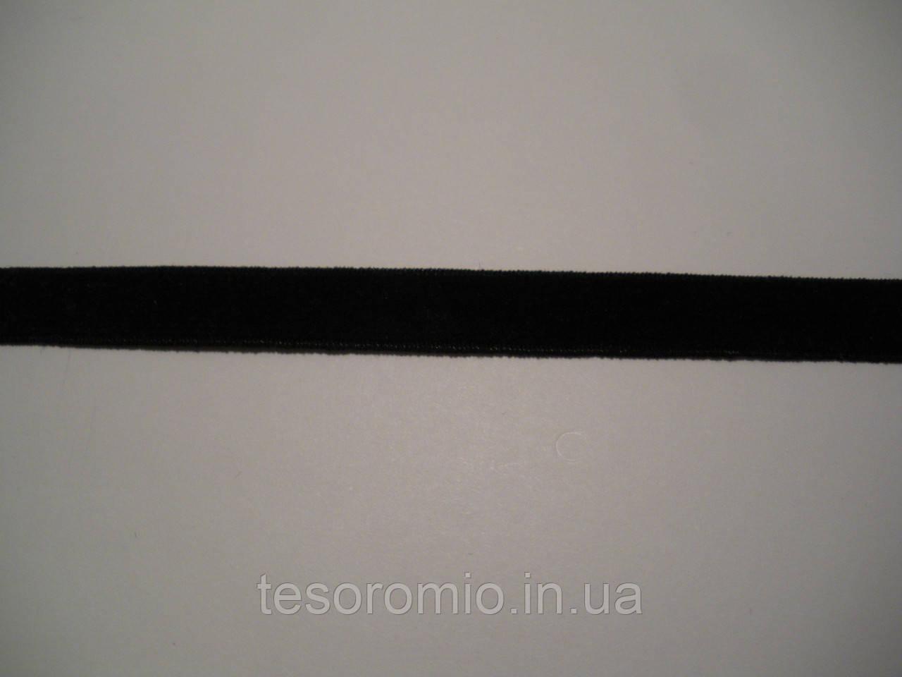Резинка бархатная черная 0,9 см ширина