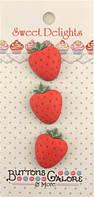 Пуговицы фигурные «Strawberries» Buttons Galore, фото 1