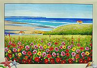 Набор для вышивки картины Цветочная Поляна 60х48см