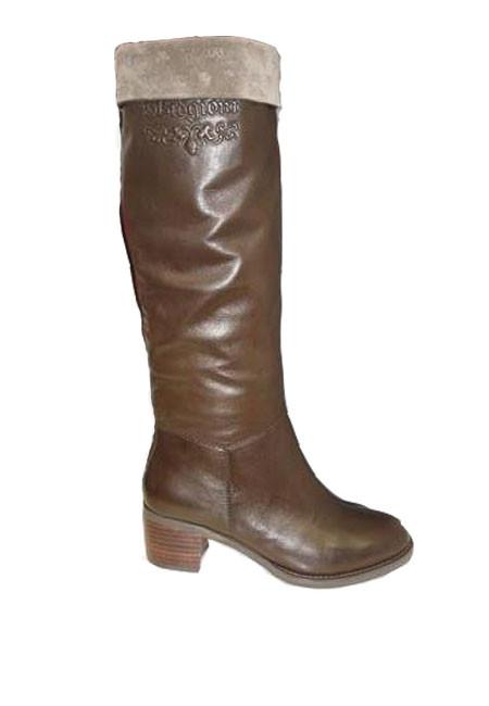 Сапоги зимние женские из натуральной кожи на невысоком каблуке - МЕГАТОП в Запорожье