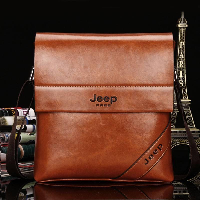 6271a2e75726 современная мужская сумка Jeep высокого качества деловой стиль