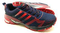 Беговые кроссовки адидас Marathon 15 синие с красным