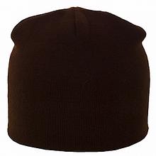 Коричневая и оранжевая спортивная двойная шапка лопатка