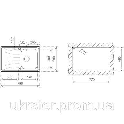 Кухонная мойка TEKA UNIVERSO 1B 1D 79 микротекстура, фото 2