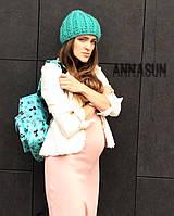 Рюкзак бирюзовый с котиками водонепроницаемый, фото 1