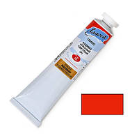 Краска масляная художественная Ладога, Кадмий красный светлый (А), 120 мл, в тубе