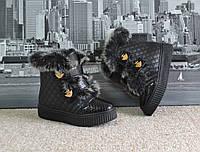 Ботиночки Черные, зима, остались размер 39