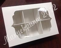 Коробка для конфет с фигурным окном и ложементом