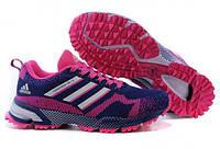 Кроссовки для бега женские Adidas Marathon синие с розовым