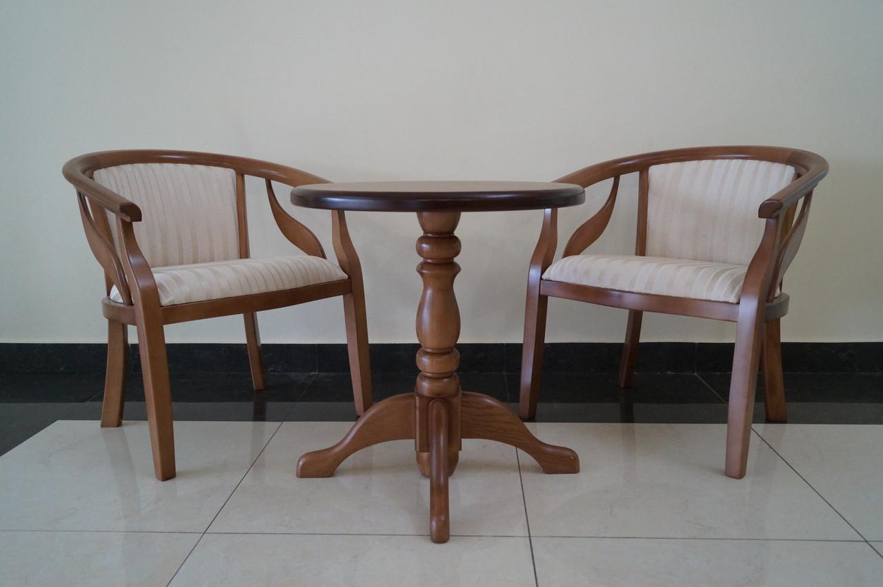 Кресло Монарх из натурального дерева