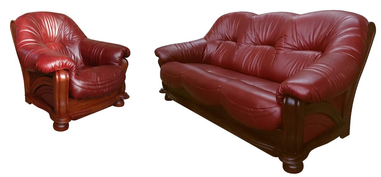 """Комплект кожаной мебели """"Diaz"""" (Диаз). (3р+1)"""