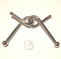 Головоломка металлическая Гигант-6 - Гвозди-3