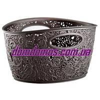 "Корзина ажурная ""Mini Basket"" Elif Plastik, Турция,  коричневая"