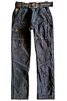 Вельветовые брюки на флисе; 146, 152 размер