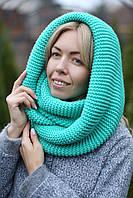 Снуд шапка шарф хомут плотный шерстяной