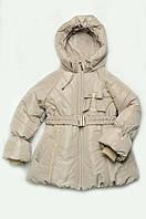 Куртка-пальто зимняя для девочки (светло-бежевый)