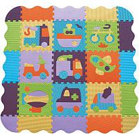 Детский игровой коврик-пазл «Быстрый транспорт» с бортиком GB-M129V2Е Baby Great