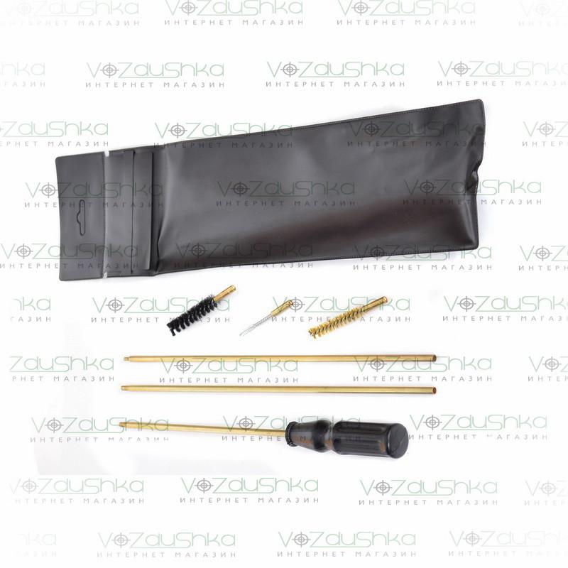 Набор для чистки нарезного оружия калибра 7.62 (вишер, ПВХ упаковка)