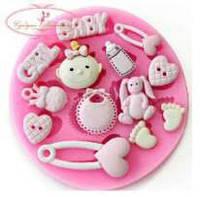 Молд силиконовый Набор детский (для девочки)