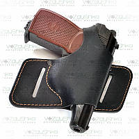 Кобура поясная ''бабочка'' для пистолета ПМ для поясного ношения Макарова (кожа), фото 1