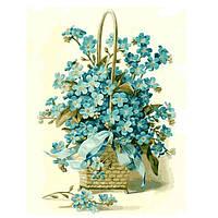 Картина по номерам Корзинка цветов без коробки