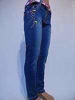 Осенние стрейчевые джинсы для девочек. От 4 до 14 лет. (104-164см.). Фирма Good kids - Польша
