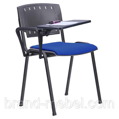 Стул Призма черный спинка пластик со столиком