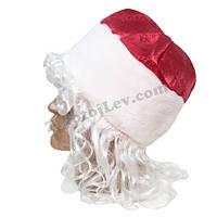 Шапка Деда Мороза с волосами
