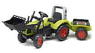 Трактор на педалях с ковшем и прицепом Claas Arion 430 Falk