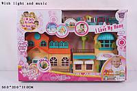Домик кукольный 1164, музыка, свет, с куклами и мебелью