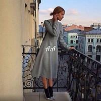 Платье клеш трикотаж длинный рукав