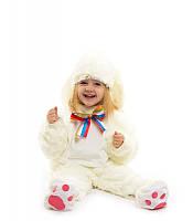 Костюм Зайчик - малыш белый ( от 0,5 до 2,5 лет.)