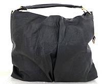 Большая женская сумка - мешок. Эко-кожа. Черная