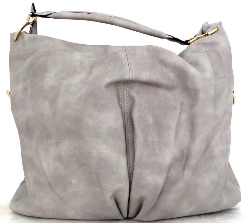 4c6a3d2c3728 Большая женская сумка - мешок. Эко-кожа. Серая: продажа, цена в ...