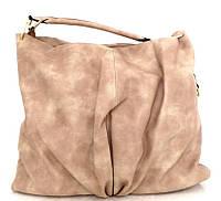 Большая женская сумка - мешок. Эко-кожа. Бежевая, фото 1