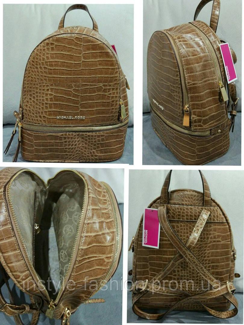 310028b567c7 Рюкзак женский брендовый сумка Michael Kors Майкл Корс коричневый, фото 2