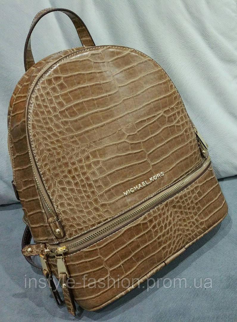 a17cf171fcfe Рюкзак женский брендовый сумка Michael Kors Майкл Корс коричневый ...