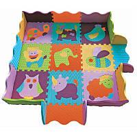 Детский игровой коврик-пазл «Веселый зоопарк» с бортиком GB-M129А2Е Baby Great