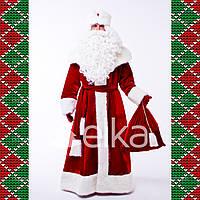 Новогодний костюм Деда Мороза Великий (без бороды и парика)