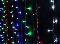 Гирлянда штора / занавес 3*1,7 м на черном проводе LED