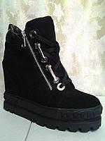 Стильные женские замшевые демисезонные ботинки Fabrica