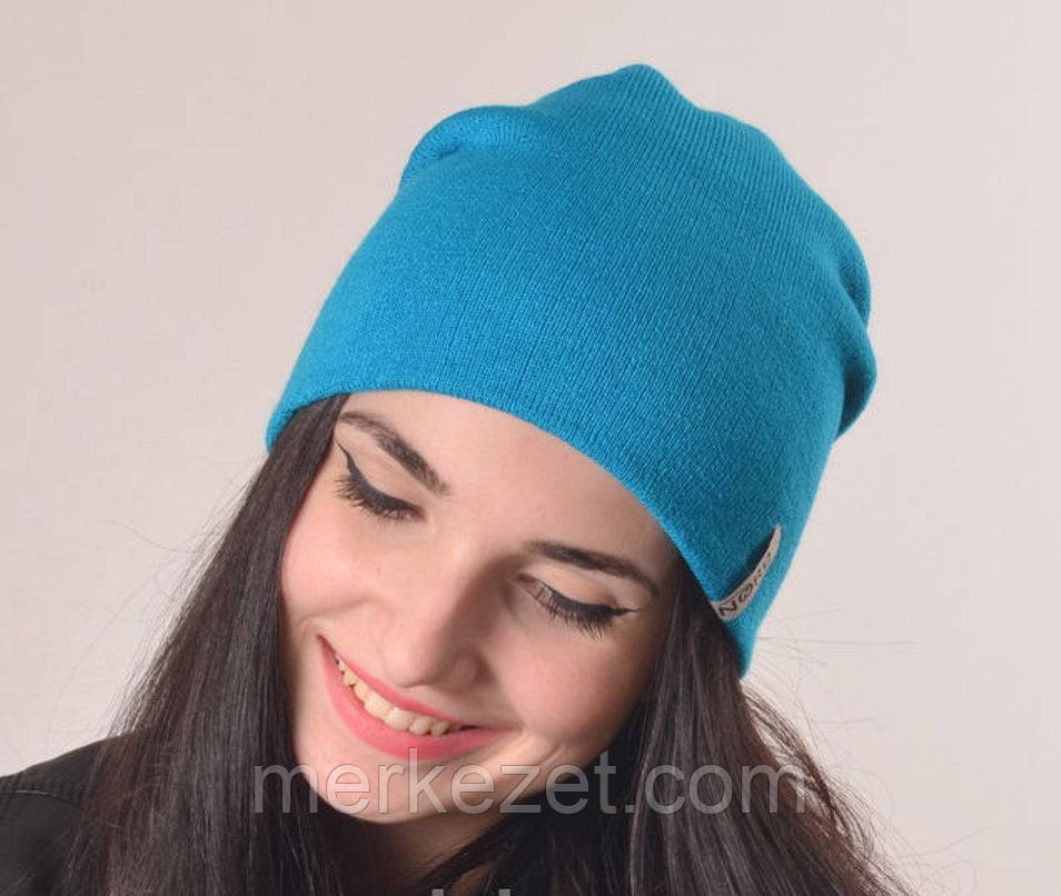 Женская удлиненная шапка