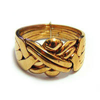 Кольцо-головоломка мужское из 6 деталей (бронза)