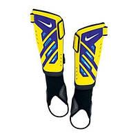 Щитки футбольные  Nike youth protegga shield желто- фиолетовые /sp0255 751 - 19190