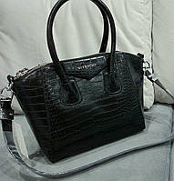 Сумка Givenchy мини под рептилию черная